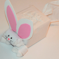 Tissue Box Easter Bunny - 1 of the 36 spring crafts simple for the kids to make