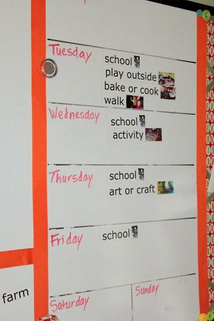 preschooler calendar