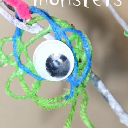 One-Eyed Yarn Monster Halloween Craft