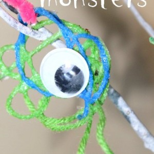 Yarn Monster Halloween Craft
