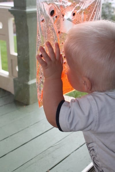 Sensory bag for toddlers