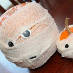 Mummy Pumpkins, 1 of the 12 Googly Eyes Crafts & Activities for Halloween