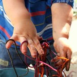 Slimy Spaghetti Sensory Activity for Toddlers