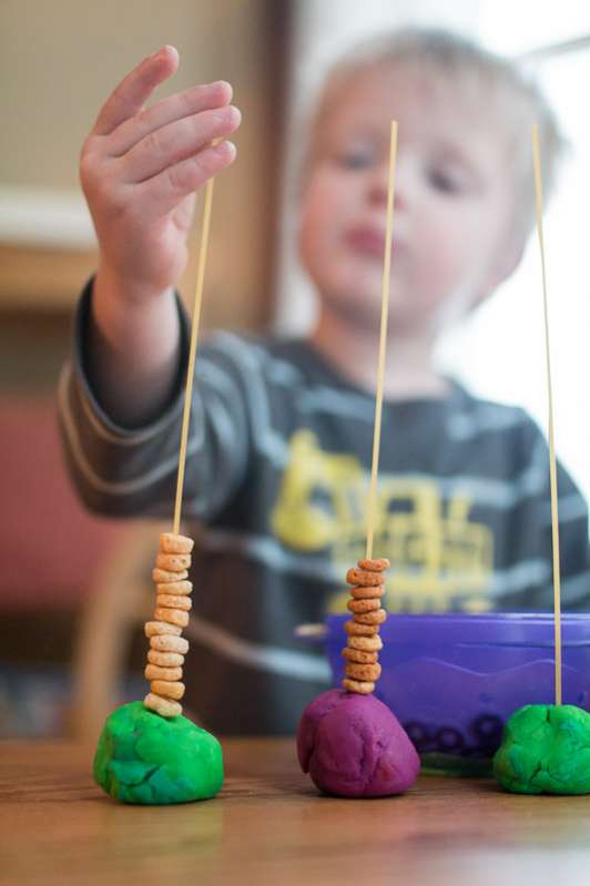 Basic Cereal Threading Activity For Toddlers Hands On As