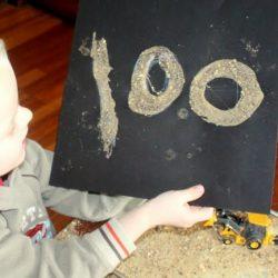 Sand art sensory activity for kids