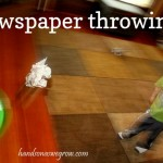 Indoor Energetic Activity: Newspaper Throwing!