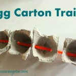 Toddler Fine Motor Activity: Egg Carton Train
