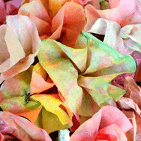Watercolor Coffee Filter Flowers - 1 of the 36 spring crafts for kids to make