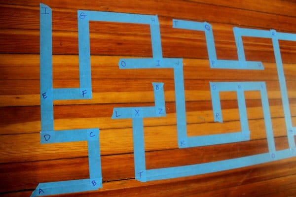 Ways to Learn Indoors with Tape: ABCs, Letters and other Literacy Activities