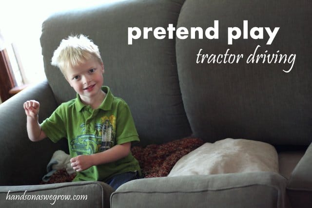 Pretend Play Tractor Driving
