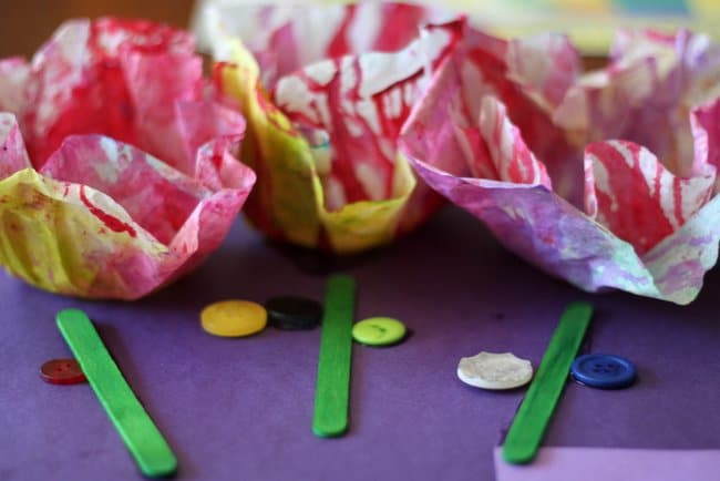 Starched Coffee Filter Flowers