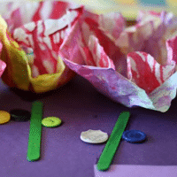 Starched Spring Flower Craft - 1 of the 36 spring crafts for kids to make