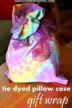 Tie Dyed Pillow Case Gift Wrap