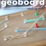 Push Pin Geoboard: Made by Child!