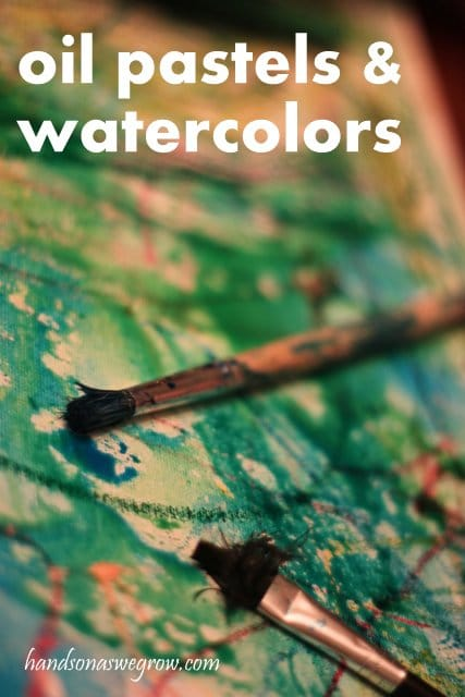 Oil Pastels & Watercolors Activity for Kids