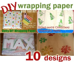 10 DIY Wrapping paper designs