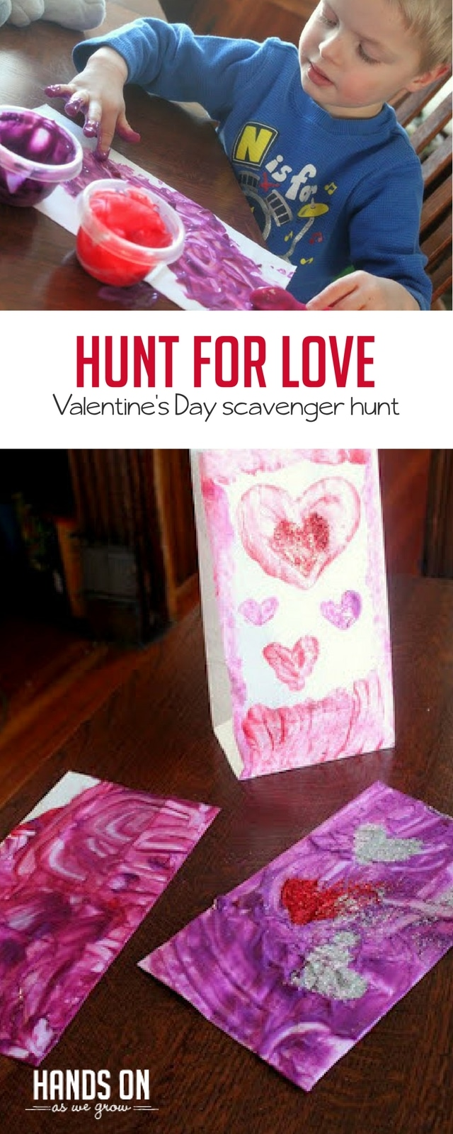 Send your kids on a Hunt for Love around the house with this fun Valentine's activity.