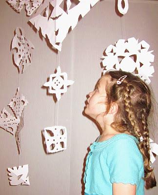 paper snowflake mobile