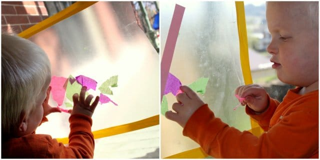 Easter Craft with Tissue Paper: Cross Collage
