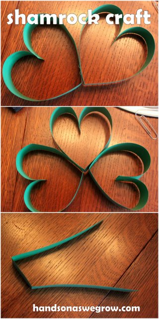 easy shamrock craft for kids