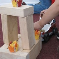 Build a fire and put it out with blocks