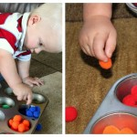 Toddler Activity : Fine Motor Skills with Pom Poms