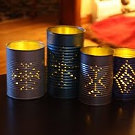 Tin can winter luminaries