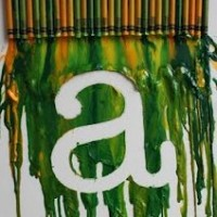 tape resist hair dryer crayons
