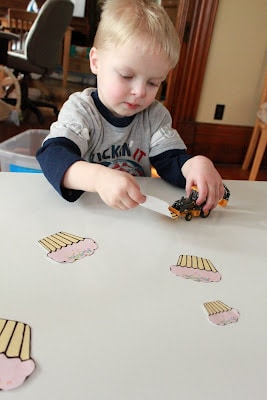 big versus small size printable game
