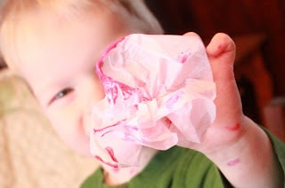 Painting Tissue Paper Flowers