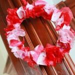 Valentine's Day Craft: Tissue Wreath