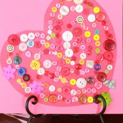 Sorted Button Craft Valentine Heart