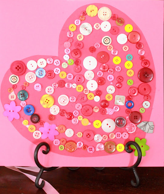 Button Heart Valentine Craft
