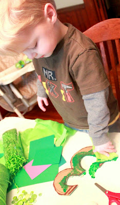 Decorating birthday number for wreath