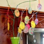 Shaving Cream Eggs for Easter Tree