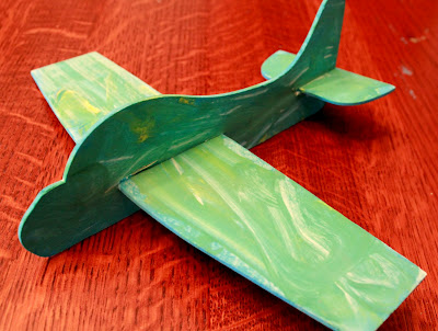 Craft an airplane from green kid crafts hands on as we for Airplane crafts for toddlers