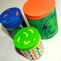 tin can balloon drums