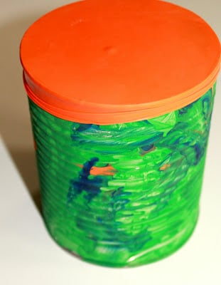 music art: tin can drums