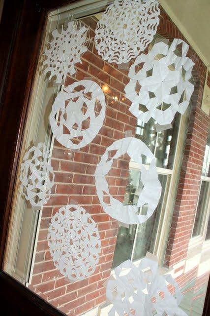 scissor practice to cut snowflakes
