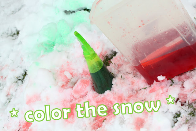 Color Snow as a Winter Activity