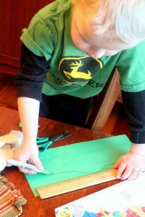 shamrock drawing lines for craft