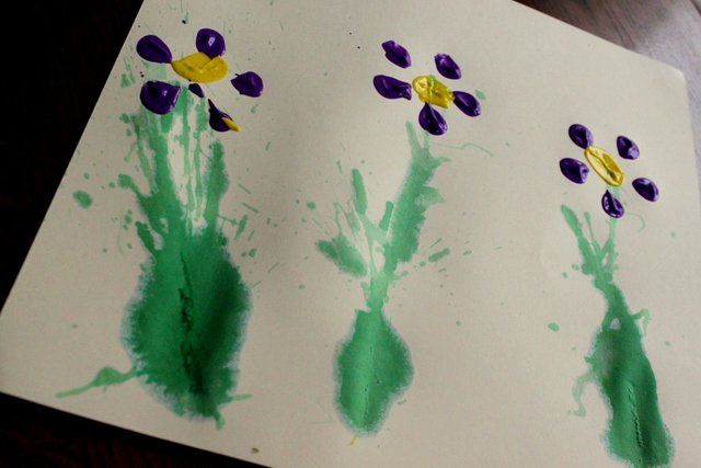 Spring Flower Art Activity