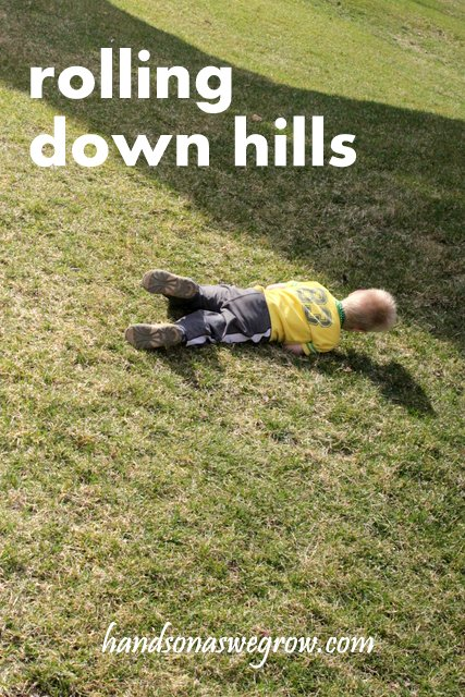 Rolling Down Hills Outdoor Play Activity