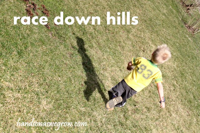 Outdoor activity to race down the hills