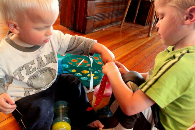 Busy Toddler Activity: Ribbons in a Bottle