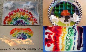 rainbow art, sensory, and even food