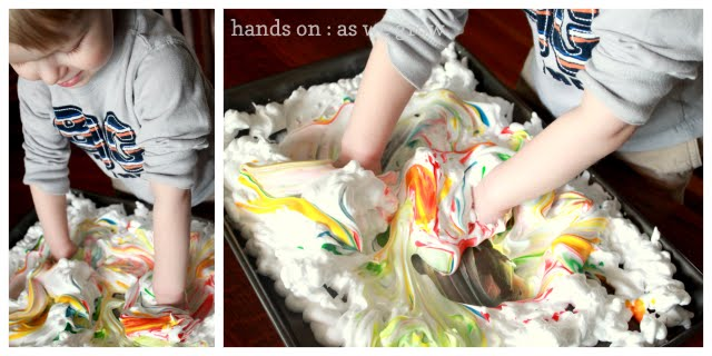 easter shaving cream egg craft