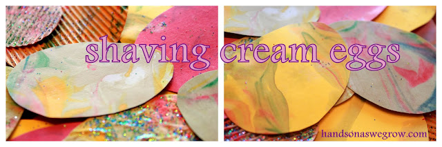shaving cream eggs