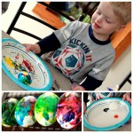 Henry's First Egg Decorating
