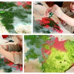 Sensory Play : Flour Piping Activity